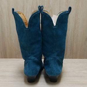 Michael Kors Shoes - Michael Kors Wynona Suede Cowboy Boots 6 Sa